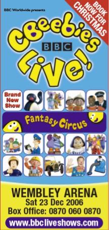 CBeebies Live - Fantasy Circus (2006)